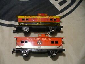 Marx Trains SP 1235 & KCS 979 7in. 4 wheel CABOOSES