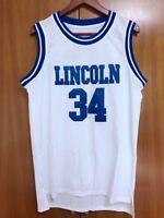 Jesus Shuttlesworth #34 Lincoln He Got Game Basketball Jersey White