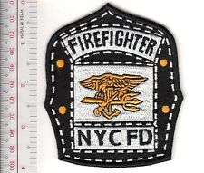 New York City NYC Fire Department Engine 53 US Navy SEAL Firefighter Helmet Shie