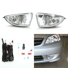 Front Fog Light Kit Fit 2004-2005 Honda Civic Coupe Sedan Clear Lens Wire Switch