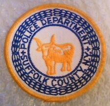 Patch- Suffolk County NY US Police Department Patch (NEW, apx. 90x90 mm)
