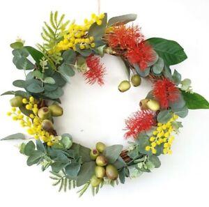 Colourful Australian Native Flower Wreath Christmas Wreath (35 cms wide)