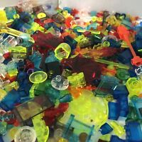 LEGO Bulk Lot of 100 Transparent Small Bricks and Plates specials - Mixed Colors