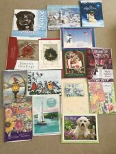 Lot of 15 Assorted Greeting Cards w/ Envelopes~ Christmas-Birthday-Get Well