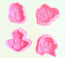 Snow White Characters Plunger Cookie Cutter 4 pc Set - NEW