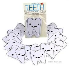 TONS OF TEETH STICKERS I HEART GUTS GIANT STICKER PACK OF 15 STICKERS SET