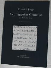 Late Egyptian Grammar: An Introduction. Friedrich Junge (2005) 2nd Ed. ENG