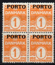 Denmark Four 1 Ore Postage Due Stamps c1921 Mounted Mint (2320)