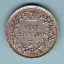 New listing Great Britain. 1872 Shilling. Die 148. gVf - Trace Lustre