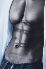 SEXY ABS - SIX PACK PIN UP POSTER - 24x36 BLUE JEAN HOT GUY HUNK 1592