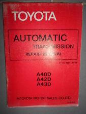 Toyota automatic transmission -A40D A42D A43D : Repair Manual 1979