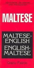 Maltese-English/English-Maltese Dictionary and Phrasebook (Paperback or Softback