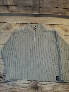 Gap Boy's Tan Sweater Cable Knit Mock Neck Youth Boys Size 10 Large
