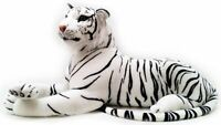 New Large White Tiger Soft Cuddly Toy 70 cm Soft Toy Plush Massive Uk stock