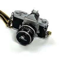Nikkormat FTn Chrome Classic 35mm Film Camera Nikkor-S 50mm f/1.4 Lens With Bag