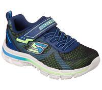 Skechers Nitrate Brio Boys Navy Blue Memory Foam Trainers Size 4 5 6 9.5 10.5 2