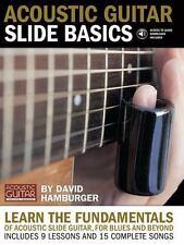 NEW - Acoustic Guitar Slide Basics Bk/Audio Download by Hamburger, David