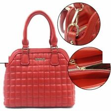 RIYIPIJU Ladies Fashionable Leather Bag Sling Top Handle Bag 693 (Red)