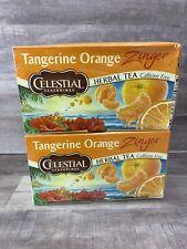 2-Celestial Seasonings Tea Tangerine Orange Zinger (Damaged Box)