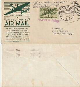 US 1944 WARTIME COMMEMORATING THE DEVELOPMENT OF US AIR MAIL COVER FORT BENNING