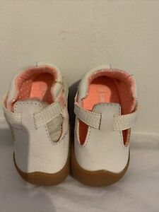 Carter's Baby Girl Shoes Stage 1 Crawl Style Amy-P2 White/pink