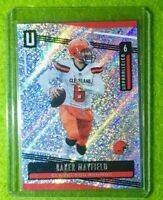 BAKER MAYFIELD PRIZM CARD JERSEY #6 REFRACTOR CLEVELAND BROWNS 2019 Unparalleled