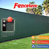 6'(H) x 50' (L) Wide Green Fence Screen Cover Mesh Windscreen Privacy Fabric