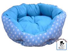 WOW! splendido Designer Blu & Bianco Spotty GATTO GATTINO PET BED CESTO solo £ 4.99