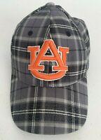 NCAA Auburn Tigers Plaid Gray Low Profile Cap One Size Flexible Headband Hat