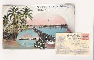 "Tonga: Postal Stationery, 1st Group, used to Auckland, ""Nukualofa"". rare. TG39/"