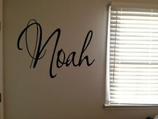 Custom Noah Boys Room Name Nursery Baby Kids Vinyl Wall Art Quote Sticker