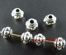 100pcs Tibetan Silver Lantern Shaped Spacer Beads 4.5x4mm zn716