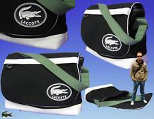 LACOSTE MESSAGER unisexe sac à bandoulière sport vintage noir authentique