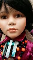 """A21 26"""" Native American Southwestern Collectible Porcelain Doll World Gallery +"""