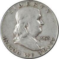 1953 50c Franklin Silver Half Dollar US Coin VF Very Fine