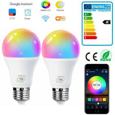 E27 LED RGBCW Ampoule Intelligente Connecté Wifi Compatible Alexa Google Home