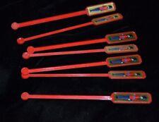 Lot 7 Vtg Red Swizzle Sticks WINDSOR SUPREME CANADIAN Guardsmen Plastic  .
