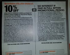 10% Off Up To $200 Home Depot Coupon or No Interest On-line! Expires 05-30-2018