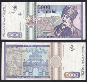 Romania 5000 lei 1992 SPL/XF  A-09