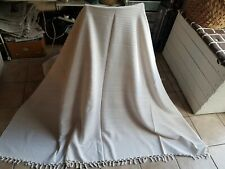 Large Bedspread Bed Cover Blanket Throw Pink Stripes & Tassel Trim Home Decor