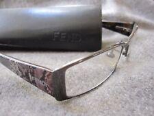 Fendi Eye Glasses F879  52 16 035 135 Metal Frame Animal Print With Case Italy
