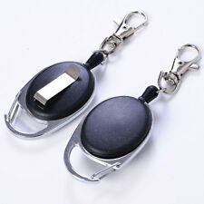 Retractable Metal Key Chain Card Badge Holder Steel Recoil Telescopic Wire Rope