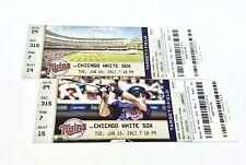 Minnesota Twins vs Chicago White Sox Unused Tickets 2013 (pair)