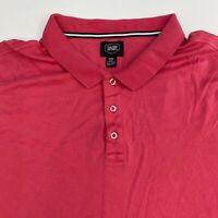 Berkley Jensen Polo Shirt Men's 3XL XXXL Short Sleeve Pink Casual Pima Cotton