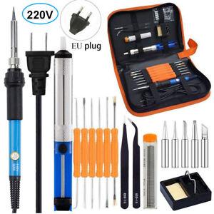 220V Fer à Souder Électrique Kit de Soudure Réglable 60W Outils Électroniques FR