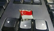 Singapore badge Country Flag Lapel Hat Cap Tie Pin Badge  --20mm*15mm.