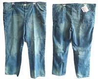 NEU Übergröße ausgefallene Herren Jeans Hose blau blue stone Used look Gr.64