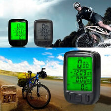 Bicycle Cycling Computer LCD Odometer Waterproof Backlight Bike Speedometer Brie