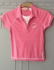 Duck and Cover Xs Ladies stretch cotton pink polo vgc