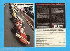 TOP971-PUBBLICITA'/ADVERTISING-1971- POLITOYS - 2 fogli